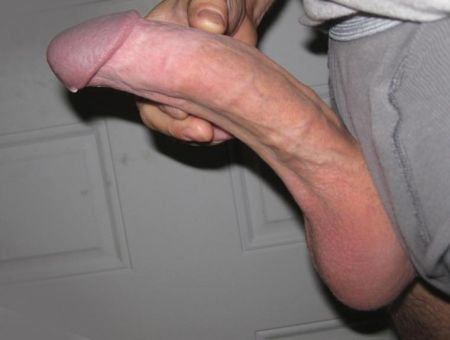 extra large white cock and shaved balls