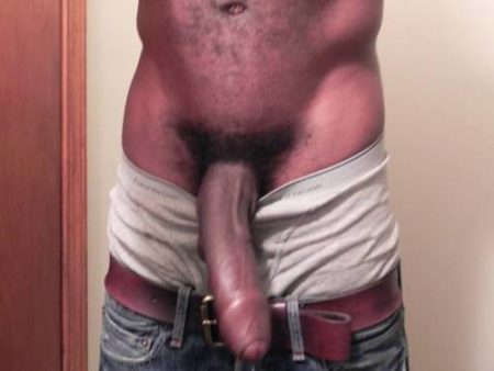 long crooked black uncut penis