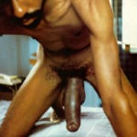 hairy black dude with massive uncut penis