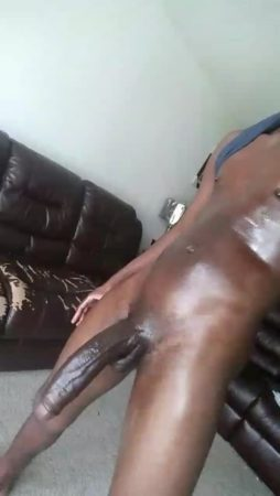 shaven big black cock