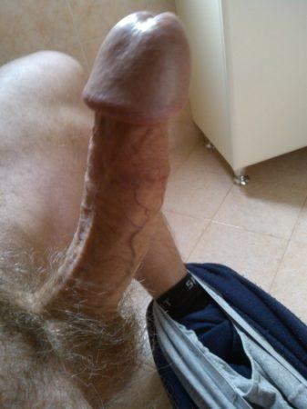 thin shaft long white penis large head