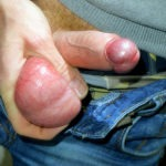 small uncut white cock guy fondling his balls